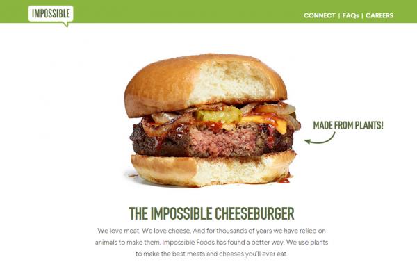 拒绝 Google 收购的素食汉堡初创公司 Impossible Foods 获1.08亿美元融资