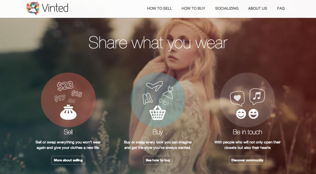 Vinted-Homepage