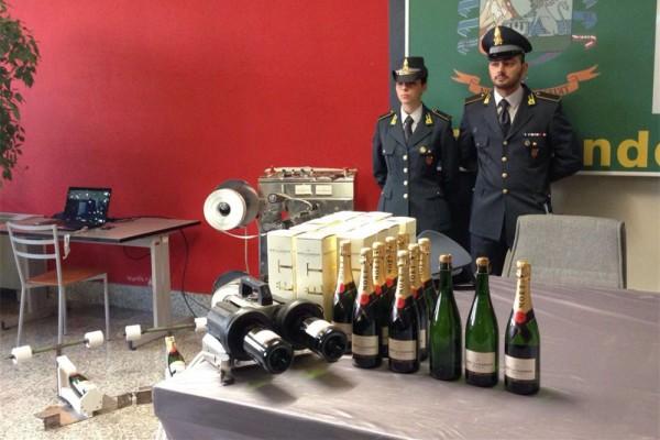 意大利警方查获上万瓶仿冒酩悦香槟