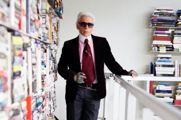 6万多本藏书堆叠到天花板,探秘 Karl Lagerfeld 私人图书馆