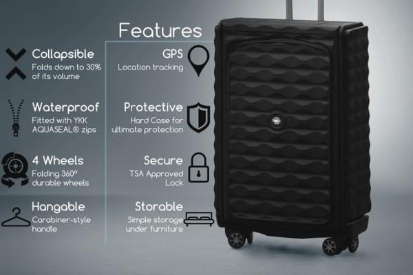 Néit:一款不用时能折叠的行李箱,厚度最小不到8厘米!