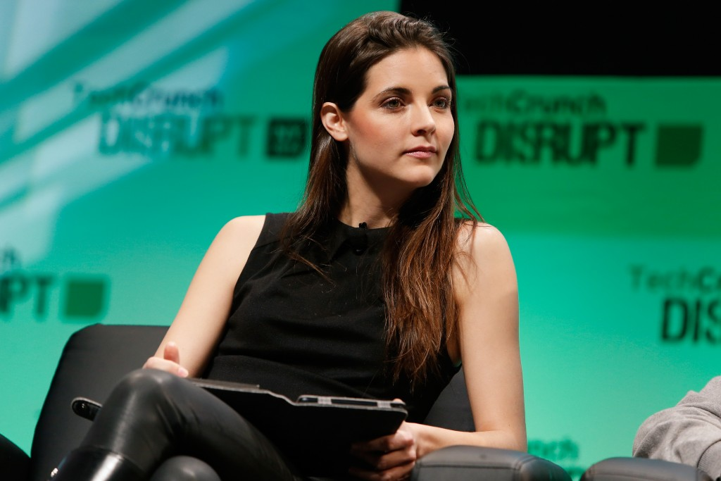 NEW YORK, NY - MAY 06: Kathryn Minshew speaks at TechCrunch Disrupt NY 2014 - Day 2 on May 6, 2014 in New York City. (Photo by Brian Ach/Getty Images for TechCrunch) *** Local Caption *** Kathryn Minshew