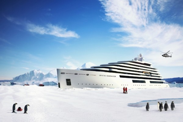 从北极出发,跟着鲸鱼去南极!史上最豪华极地探险专用游艇即将面世
