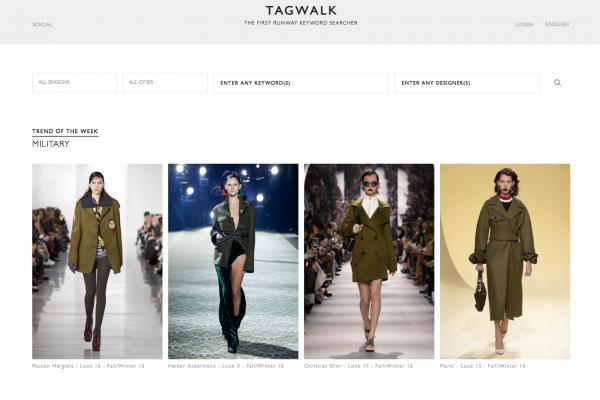 """""""时尚界的 Google""""?全球首个时装秀搜索引擎 Tag-walk 诞生"""