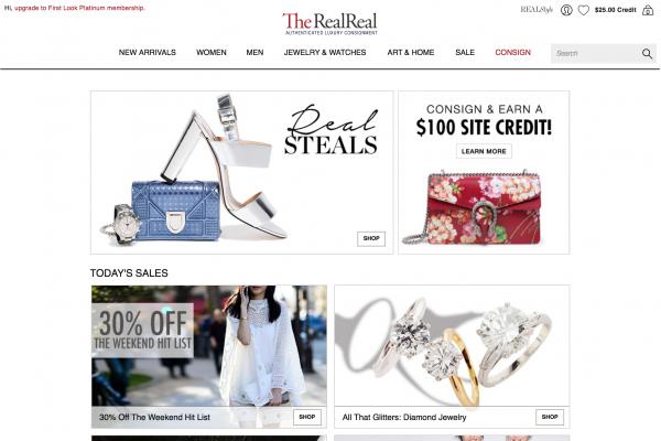 二手奢侈品寄售网站 The RealReal再获 4000万美元融资,IPO按计划进行中