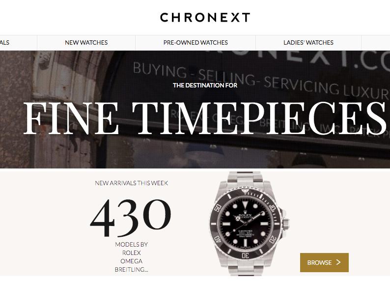 年销售增长近4倍,线上奢侈手表交易平台 Chronext完成1100万美元C轮融资