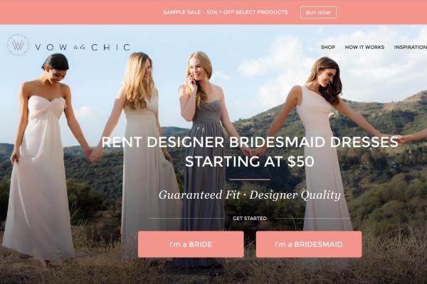 为新娘和伴娘提供小众设计师礼服租赁和造型服务,Vow To Be Chic获 500万美元A轮投资