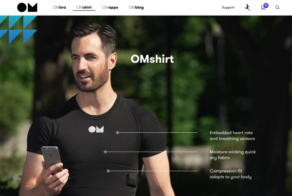 耗时两年推出女性智能运动文胸,OMsignal完成1000万美元融资