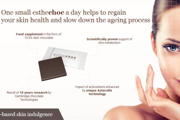 剑桥大学研发出富含虾青素的巧克力,号称可延缓皮肤衰老