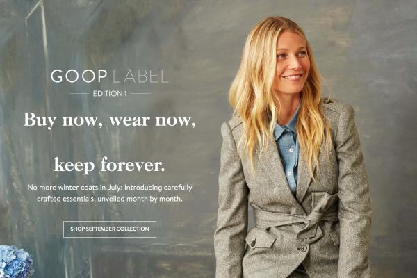 好莱坞女星 Gwyneth Paltrow 推出互联网直销的轻奢时装品牌,每月上新款式不超过5个