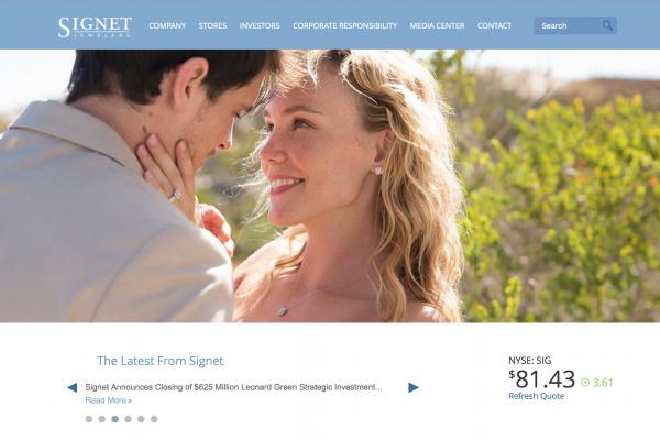 全球最大钻石珠宝零售商 Signet Jewelers 获私募基金 Leonard Green & Partners 6.25亿美元投资