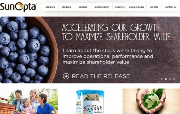 加拿大有机食品公司 SunOpta 获 Oaktree Capital 8500万美元投资
