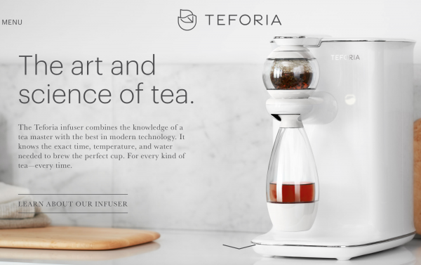 智能泡茶机制造商 Teforia 获 1200万美元 A轮投资