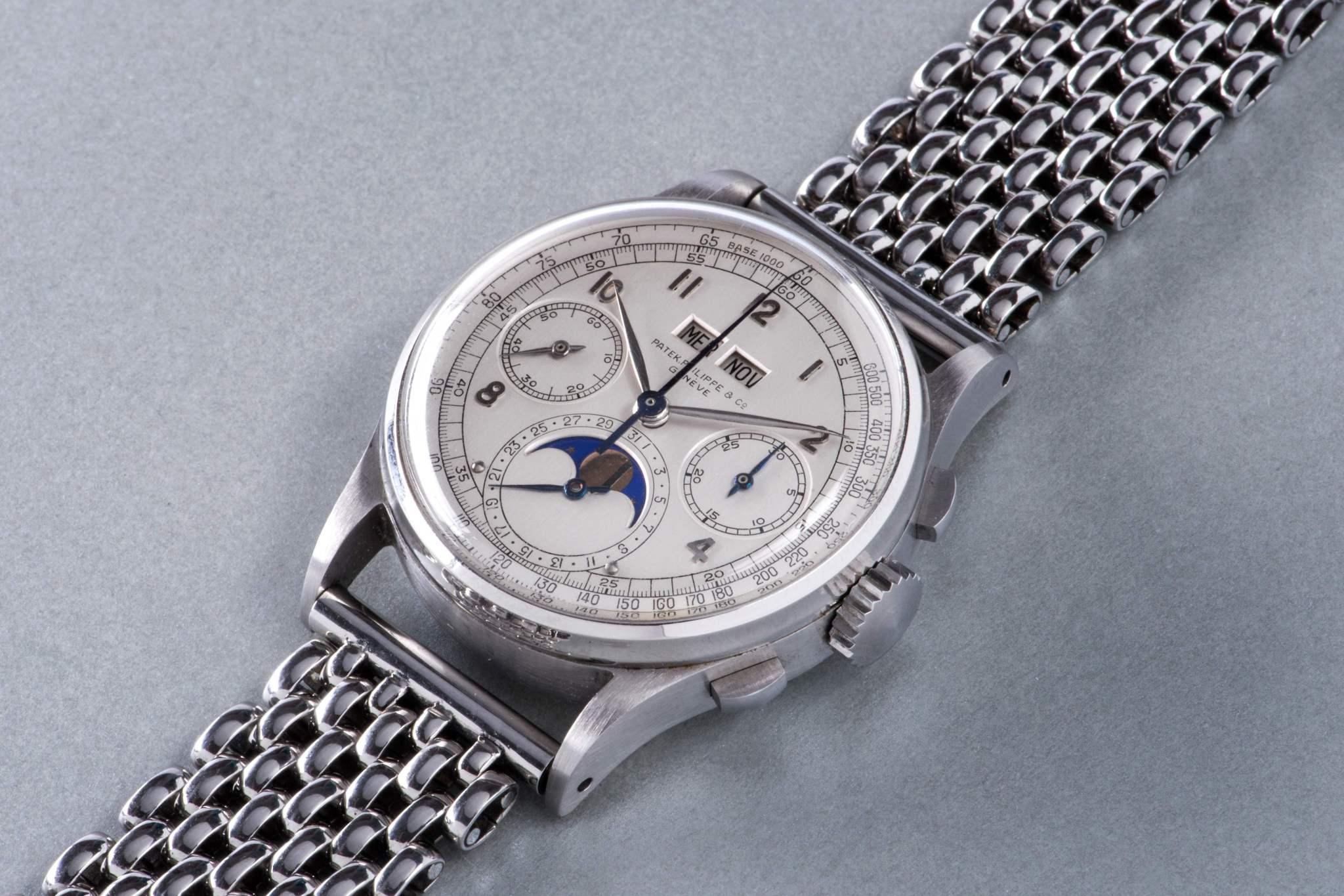 一块罕见的百达翡丽 1518全钢表以1100万美元刷新腕表拍卖纪录