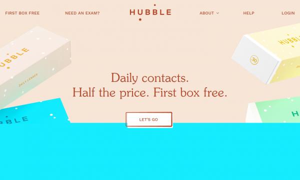 价格不到传统品牌的一半,隐形眼镜线上直销品牌 Hubble 完成融资720万美元