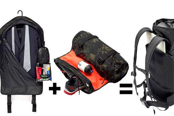 背上西装礼服去爬山也不怕皱!两个澳洲年轻人发明了全球首款二合一背包