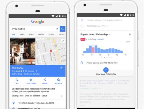 Google 搜索和地图功能再升级,告诉你节假日哪家商店人挤人!