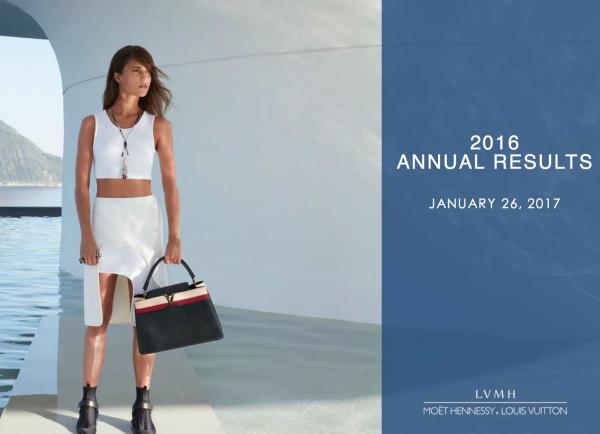 LVMH集团2016年第四季度业绩大好,全年销售首次突破370亿欧元,Arnault对新财年保持谨慎态度