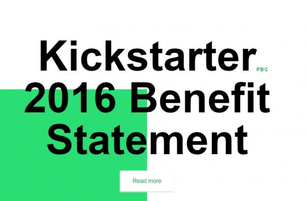 """作为""""公益组织""""的美国众筹平台 Kickstarter 发布第一份社会贡献报告"""