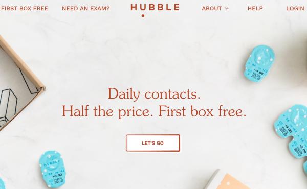 隐形眼镜线上直销品牌 Hubble 完成 A轮融资 1650万美元