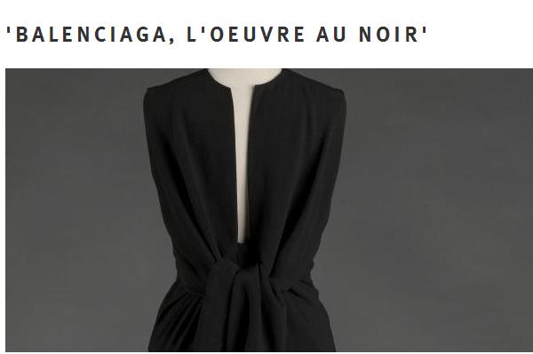 巴黎加列拉宫举行 Cristóbal Balenciaga 黑色高定时装主题展