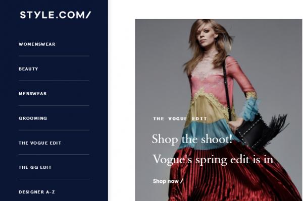 康泰纳仕旗下知名时尚资讯网站 Style.com 转型内容电商