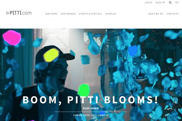 在线展会服务系统 e-Pitti.com 数字活动受时尚买手追捧,网站流量大幅增长