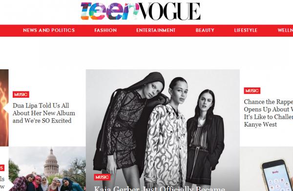 美国九本顶尖时尚杂志网站流量大比拼:《Teen Vogue》同比增加176%,《Cosmopolitan》继续领跑