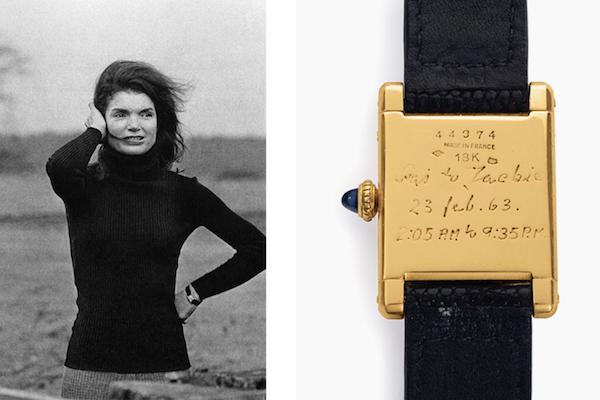 美国前第一夫人杰奎琳·肯尼迪的卡地亚手表和画作拍出 37.95万美元的高价