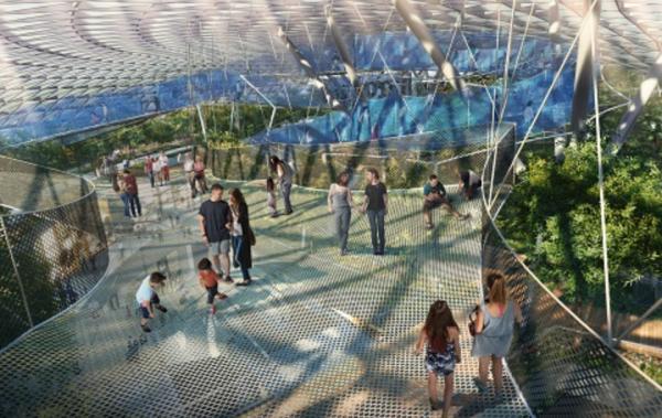 """拥有世界上最高室内瀑布和5层室内雨林,新加坡樟宜机场""""星空花园""""设计方案亮相"""