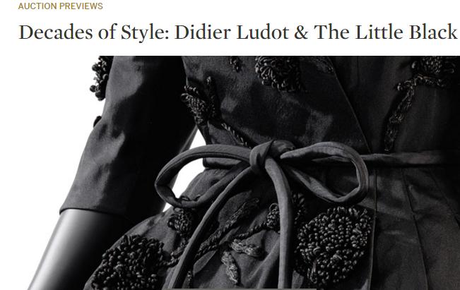 巴黎苏富比拍卖行将于10月拍卖140件经典小黑裙