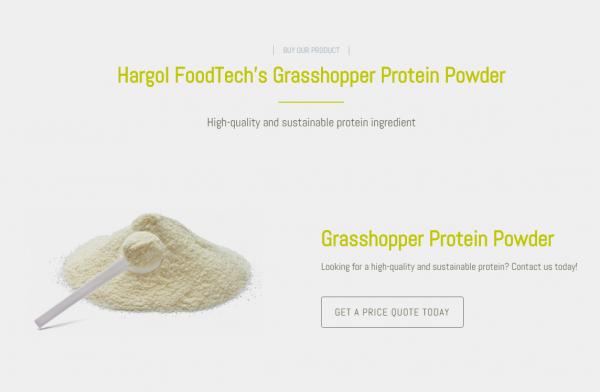 以蚱蜢为原料生产蛋白质替代食品,Hargol 融资60万美元