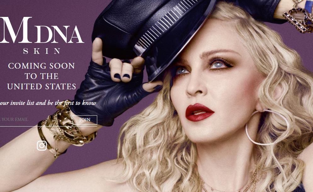 时隔三年,麦当娜与日本美容厂商合作推出的 MDNA Skin 护肤系列登陆美国