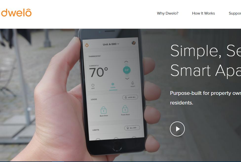 用手机遥控室内的家居设施,智能家居平台 Dwelo获 490 万美元投资