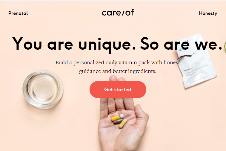 根据个人需求打造专属营养品组合,营养品初创公司 Care/of 完成1200万美元A轮融资
