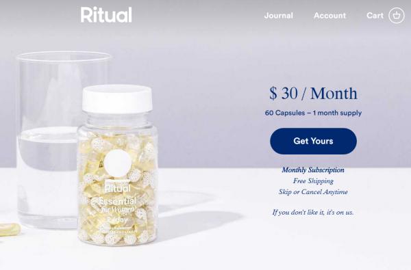 专为女性打造的维生素品牌 Ritual 完成 A轮融资 1050万美元