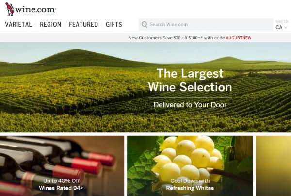 在线葡萄酒零售商 Wine.com 融资 1500万美元
