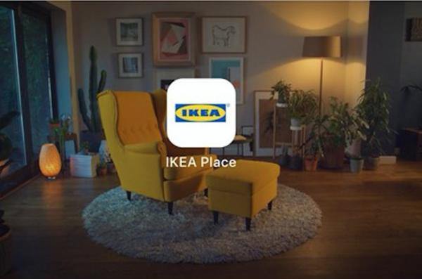 增强现实技术在家具行业日渐流行,宜家9月底推出增强现实 app:IKEA Place,将有2000多款产品上线