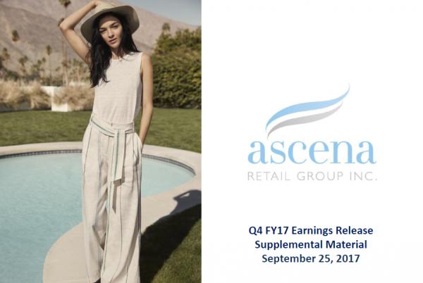 Anna Taylor 品牌的母公司、美国女装零售集团 Ascena 2017财年门店客流锐减致销售额同比下滑 4%