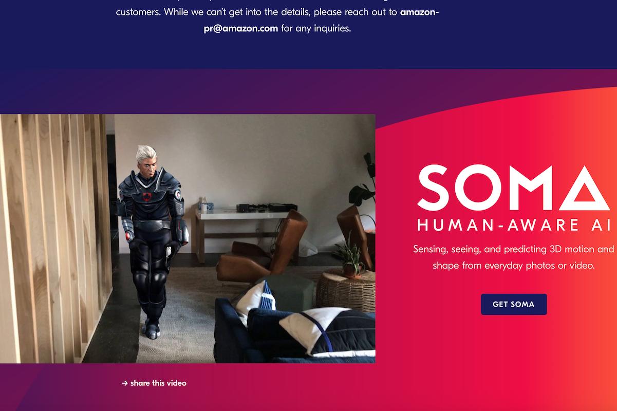 亚马逊收购纽约 3D人体建模初创公司 Body Labs,助力其时尚和游戏业务增长