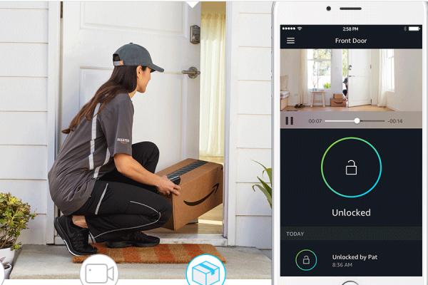 """亚马逊推出智能锁, 让快递员可以直接""""登堂入室"""""""