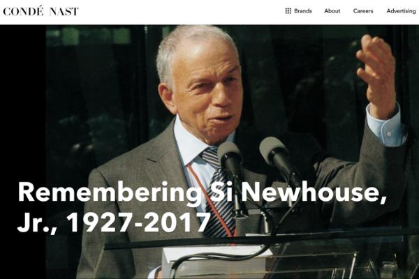 康泰纳仕集团黄金时代的缔造者、杂志业巨头 S. I. Newhouse Jr. 去世,享年 89岁