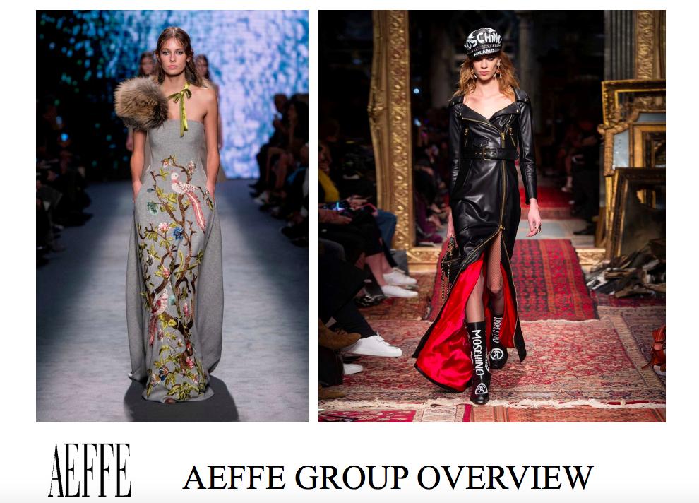 Moschino母公司、意大利奢侈品集团Aeffe前三季度净利润同比大涨144%,大中华区销售同比增长16%