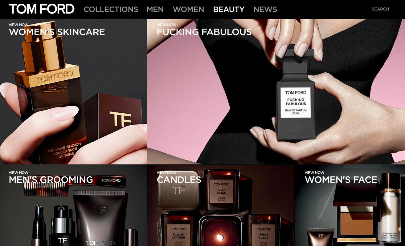 揭秘Tom Ford 美妆首家专卖店三大看点,品牌美妆产品年销售额三年内剑指10亿美元