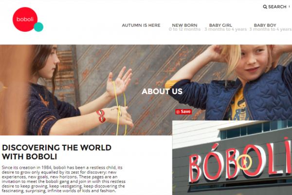 西班牙童装品牌 Boboli 2017财年销售额同比增长 12%,出口与电商业务齐头并进