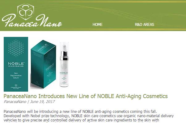 """诺贝尔化学奖得主联合创办的公司推出号称达到""""分子级精度""""的高科技护肤品:Noble"""