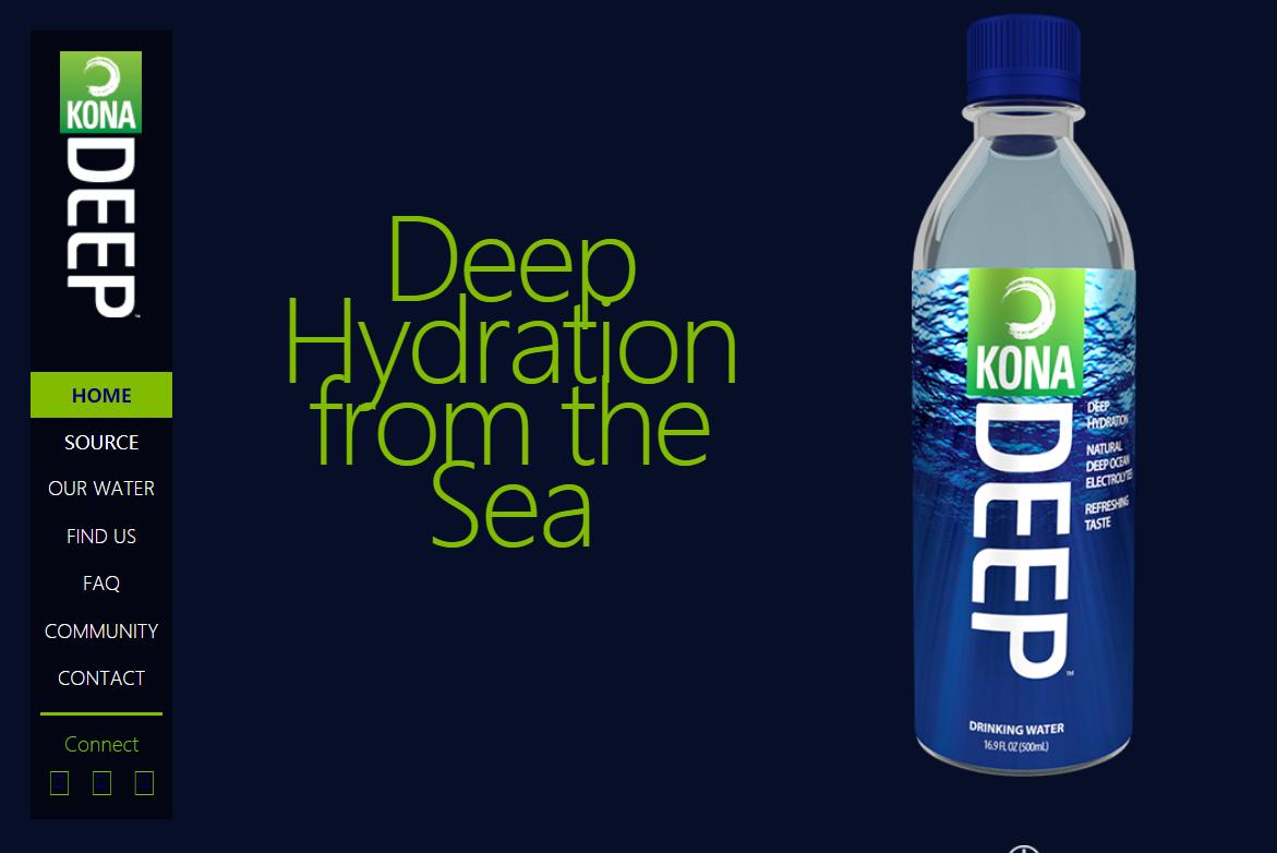 取自夏威夷海洋表面以下3000英尺的海水,法国食品巨头达能投资矿泉水公司 Kona Deep