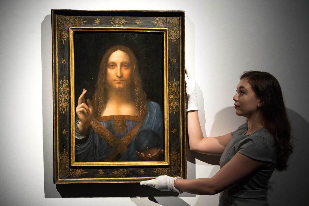 花钱能买到的最贵的艺术品!达·芬奇稀世真迹《救世主》在纽约佳士得拍出4.5亿美元