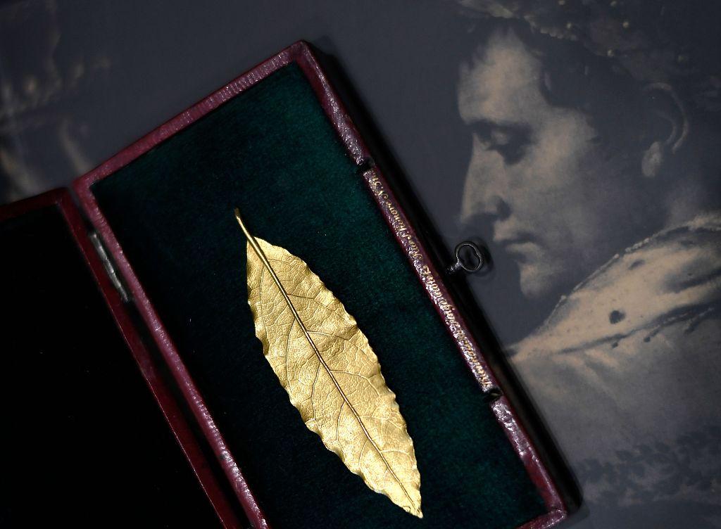 拿破仑皇冠上一片金叶在巴黎拍出62.5万欧元,超过预估价6倍