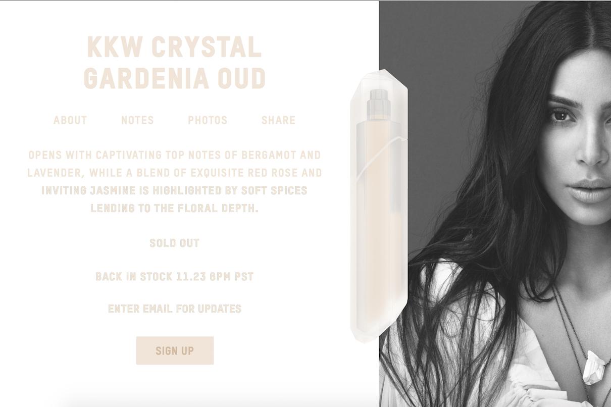 金·卡戴珊个人香水线 KKW Fragrance 首批商品一周内售罄,首日销售额达1000万美元